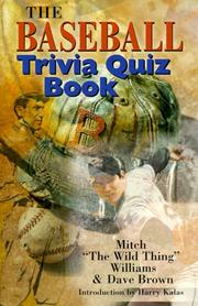 Cover of: The Baseball Trivia Quiz Book