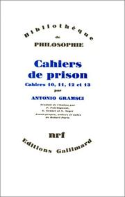 Cover of: Cahiers de prison, tome 3