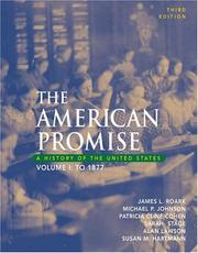 Cover of: The American Promise: A History of the United States, Volume I