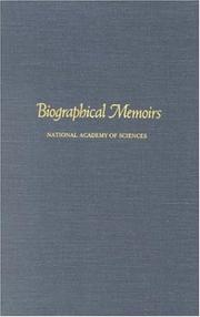 Cover of: Biographical Memoirs