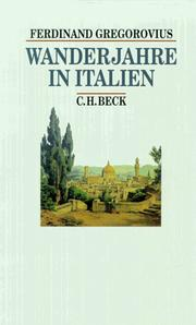 Cover of: Wanderjahre in Italien.