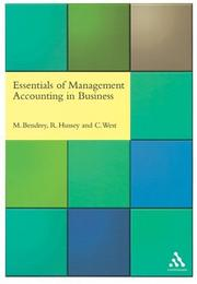 Cover of: Essentials of Management Accounting in Business