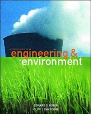 Cover of: Introduction to Engineering and the Environment (McGraw-Hill International Editions: Environmental Engineering Series)