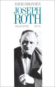 Cover of: Joseph Roth