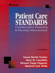 Cover of: Patient Care Standards