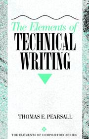 Cover of: The elements of technical writing