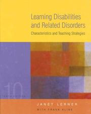 Cover of: Learning Disabilities and Related Disorders