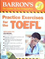 Cover of: Practice Exercises for the TOEFL with Audio CDs