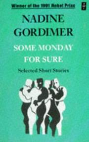 Cover of: Some Monday for Sure (African Writers)