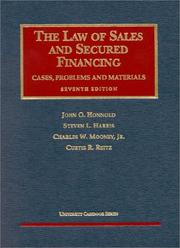 Cover of: The Law of Sales and Secured Financing