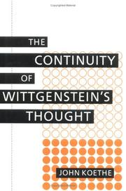 Cover of: The continuity of Wittgenstein's thought