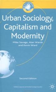Cover of: Urban Sociology, Capitalism and Modernity