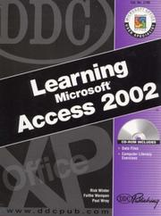 Cover of: DDC Learning Microsoft Access 2002 (DDC Learning Series)