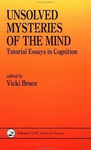 Cover of: Unsolved Mysteries Of The Mind (Tutorial Essays in Cognition)