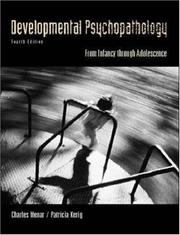 Cover of: Developmental Psychopathology (McGraw-Hill International Editions: Psychology Series)