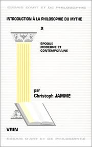 Cover of: Introduction à la philosophie du mythe