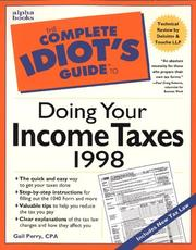 Cover of: Complete Idiot's Guide To Doing Your Income Taxes 1998