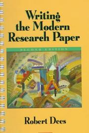 Cover of: Writing the modern research paper