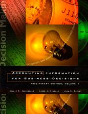 Cover of: Accounting Information for Business Decisions