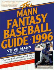 Cover of: The Mann Fantasy Baseball Guide 1996