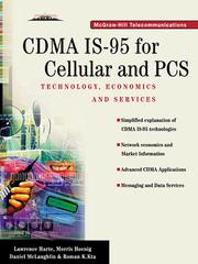 Cover of: CDMA IS-95 for Cellular and PCS
