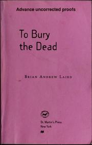 Cover of: To bury the dead