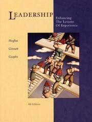 Cover of: Leadership (McGraw-Hill International Editions)