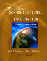Cover of: Computers Communications and Information