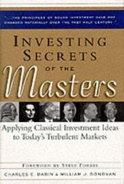 Cover of: Investing Secrets of the Masters