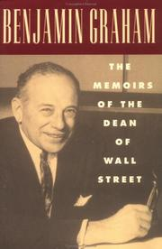 Cover of: Excerpted from Benjamin Graham, the memoirs of the dean of Wall Street