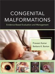 Cover of: Congenital Malformations