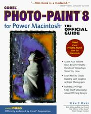 Cover of: Corel Photo-Pain 8 for Power Macintosh, The Official Guide