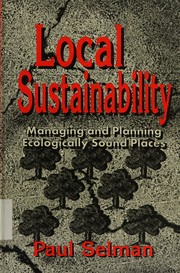 Cover of: Local sustainability