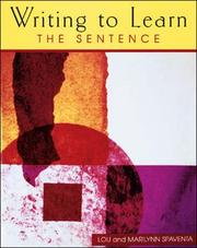 Cover of: Writing to Learn the Sentence