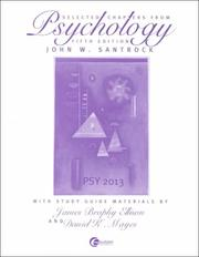 Cover of: Selected Chapters from Psychology