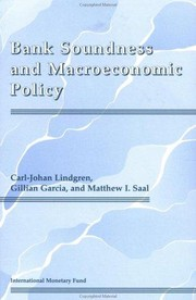 Cover of: Bank soundness and macroeconomic policy
