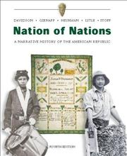 Cover of: Nation of Nations w/ Interactive E-Source CD ROM;  MP: A Narrative History of the American Republic
