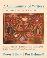 Cover of: Community of Writers, Telecourse Version, with WebWrite