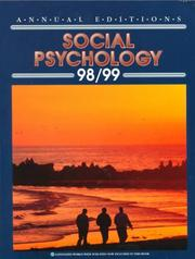 Cover of: Annual Edition Social Psycology