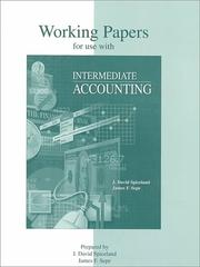 Cover of: Working Papers To Accompany Intermediate Accounting