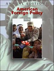 Cover of: Annual Editions: American Foreign Policy 05/06 (Annual Editions : American Foreign Policy)