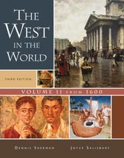 Cover of: The West in the World, Volume II