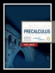 Cover of: Precalculus with Limits (Barnett, Ziegler, and Byleen's Precalculus)