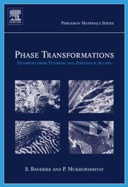 Cover of: Phase Transformations