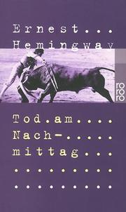 Cover of: Tod am Nachmittag | Ernest Hemingway