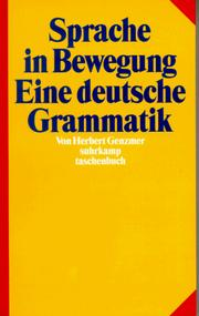 Cover of: Sprache in Bewegung by Herbert Genzmer