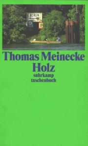 Cover of: Holz | Thomas Meinecke