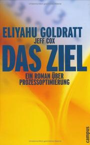 Cover of: Das Ziel | Eliyahu M. Goldratt