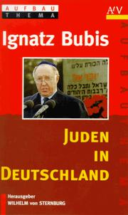 Cover of: Juden in Deutschland by Ignatz Bubis