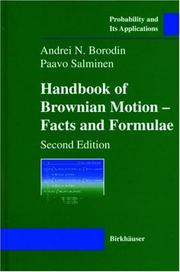 Cover of: Handbook of Brownian motion | A. N. Borodin